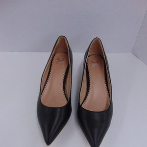 3388cf08820 JG Black Kitten Heels Pumps Pointed Toe Sz 8